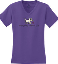 Ladies V Neck Plum | Strong Body, Excellent Nose T-Shirt