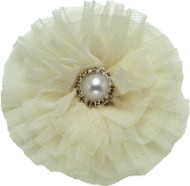 Tulle & Pearl Collar Bud | Ivory