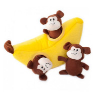 Interactive Plush Burrow Dog Toy | Monkey & Banana