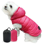 Reversible Puffer Coat | Pink & Grey
