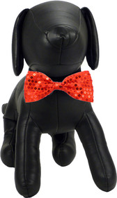 Red Sequin Dog Bow Tie | Dean