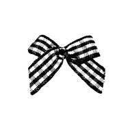 Mini Black Gingham Dog Hair Bow
