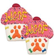 Woof Cupcake Dog Cookies | Pink