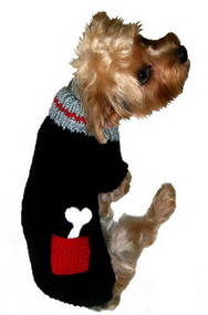 Bone on Board Dog Sweater