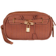 Scarlet Poop Pick Up Wristlet | Pecan