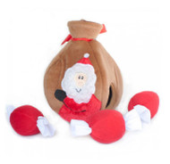 Interactive Plush Burrow Toy | Santa's Gift Bag