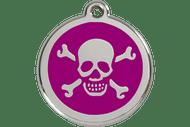 Enamel SKull & Cross Bones ID Tag | 10 Colors