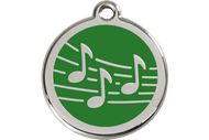 Enamel Musical Notes ID Tag | 10 Colors