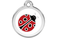 Enamel Dog ID Tag | Lady Bug