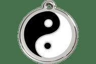 Enamel Dog ID Tag   Yin & Yang