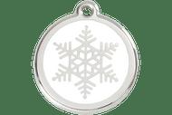 Enamel Dog ID Tag | Snowflake