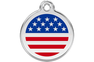 Enamel Dog ID Tag | American Flag