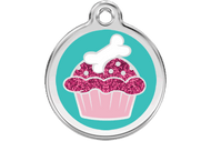 Glitter Dog ID Tag | Cupcake