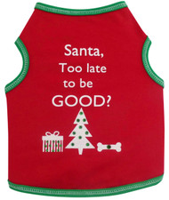Tank Top | Santa, Too Late To Be Good ?