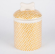 Gold Trellis Treat Jar