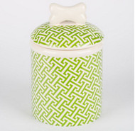 Green Trellis Treat Jar