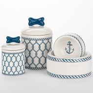 Nautical Bowl + Treat Jar Set