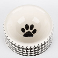 Houndstooth Dog Bowl