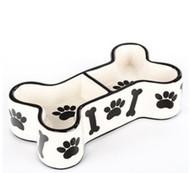 Paws & Bones Bone Shaped Bowl