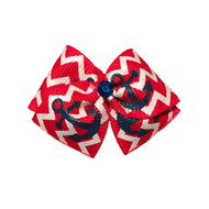 Anchors Away Dog Hair Bow