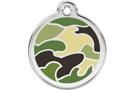 Enamel Dog ID Tag | Camo Green