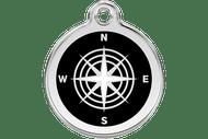 Enamel Dog ID Tag | Compass