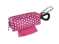 Duffel Dog Waste Bag Holder | Pink Dots
