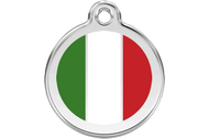 Enamel Dog ID Tag | Italian Flag
