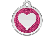 Glitter Heart ID Tag | 7 Colors