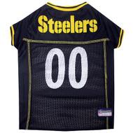 Pittsburgh Steelers Dog Jersey  - Yellow Trim