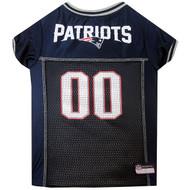 New England Patriots Dog Jersey  - Grey Trim