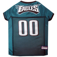 Philadelphia Eagles Dog Jersey  - Grey Trim