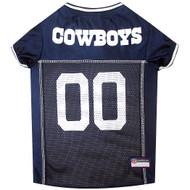 Dallas Cowboys Dog Jersey  - White Trim