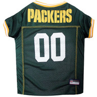Green Bay Packers Dog Jersey  - Yellow Trim