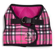 Sidekick Harness | Printed Hot Pink Plaid
