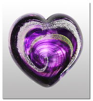 Memorialized Blown Glass Art Ashes | Purple Heart