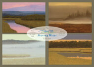 The Moving Water Collection. Nine 5 x 7 Greeting Cards with Envelopes, from four Dave Hall paintings