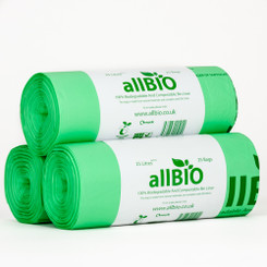 25 Litre Compostable Bin Liners - 75 Liners