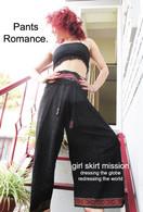 Ikat Wrap Yoga Pants - Black #1 Red Border