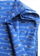 Ikat Wrap Yoga Pants - Lovely Blue