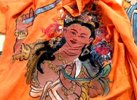 Cori Collection - Hand Dyed and Painted Kurta -  Manjushri. Manifastation of Buddha Womens: S/M