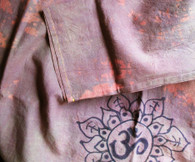 Cori Collection - Hand Dyed and Painted Kurta - AUM BROWN-  Womens -Small