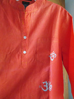 Cori Collection - Hand Dyed and Painted Kurta - OM's  Everywhere On Me - Men-Small Womens -S/M