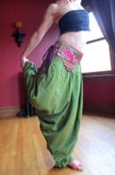 Original Art Belt - Hand Painted - Cori Collection - Rose
