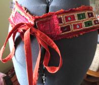 Original Art Belt - Hand Painted -Cori Collection - PEACH MIRROR