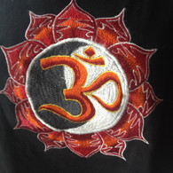 Tee Shirts - Black Red Orange AUM - L