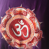 Tee Shirts - Purple Red AUM - L