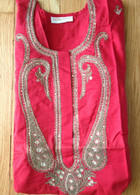 Beautiful Red Hand Embroidered Kurta - M & L
