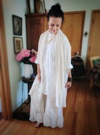 Embroidered Bell Bottoms Natural  - Victorian S/M