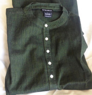 ALL NEW 100% Cotton Kurta Shirts in Two-Tone DARK GREEN (UNISEX) - M/L/XL